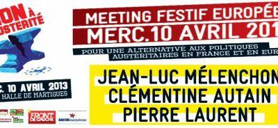 Discours de MELENCHON à Martigues, le 10 avril !