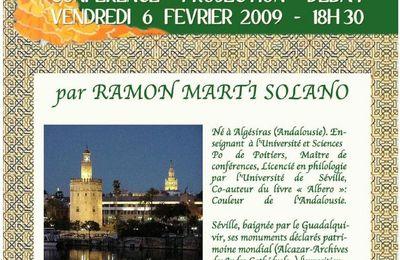 Conférence et Projection sur Séville le 6 février à Fontvieille