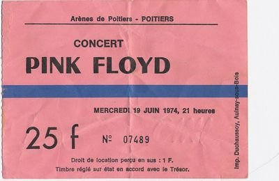 Pink Floyd 1974 Poitiers