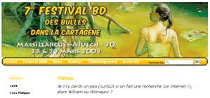 interview sur le blog du festival BD de Massillargues-Atuech