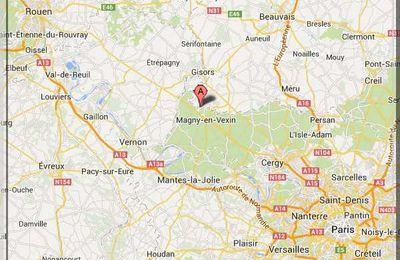 Oise - Parnes - Position château sur carte