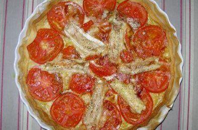 Tarte à la tomate et à tous les fromages