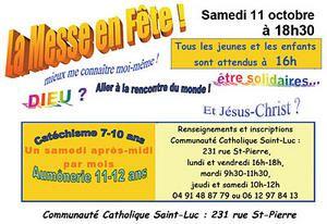Messe en fete le 11 octobre 2008