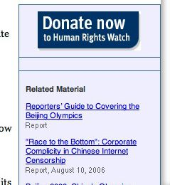 Amnesty.org accessible depuis Shanghai !! (on croit rêver)