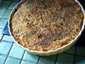 Crumble Courgettes Tomates WW