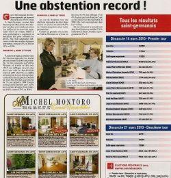 Quand le Journal de Saint-Germain manipule les résultats des élections régionales