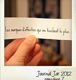 Love SMS : journal Jar, semaine 7