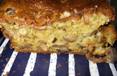 Cake aux champignons