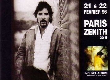 Bruce Springsteen Le Zenith Paris 22/02/1996