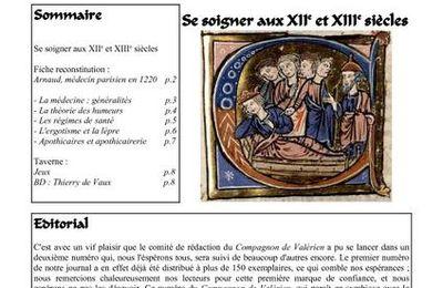 Le Compagnon de Valerien n°2, 1er Juillet 2007, se soigner au XIIe XIIIe siècles