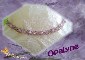 Coté perles.... Cassandre, Opalyne et Lotus