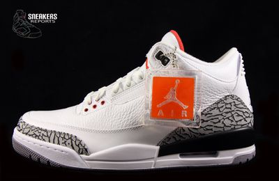 Nike Air Jordan III rétro 2011 White Cément Grey