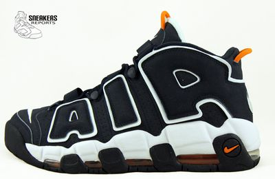 Nike Air More Uptempo Dark Obsidian Orange