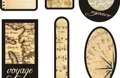 Tags à imprimer : Voyage Antique
