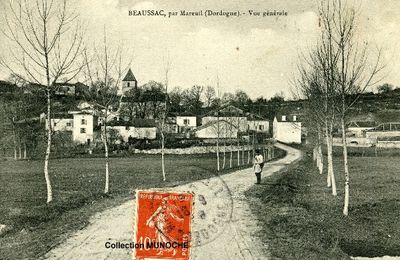 BEAUSSAC : visite du village .