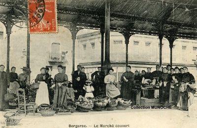 BERGERAC : Le marché couvert.