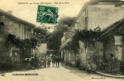 LIGUEUX : visite du village aux alentours de 1910. Cartes postales anciennesDORDOGNE PERIGORD
