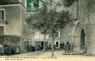 SAINT VIVIEN : la vie au village. Cartes postales anciennes.