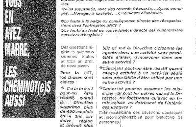Quand les syndicats de la SNCF de Chambéry essaient de mettre la clientèle dans leur poche (1/2)