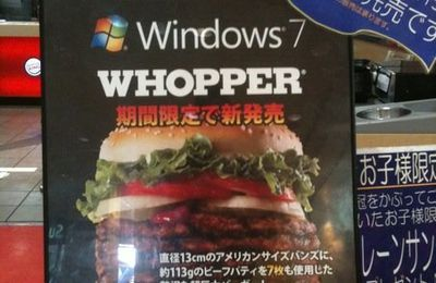 Quand Windows 7 et Burger King s'associes...