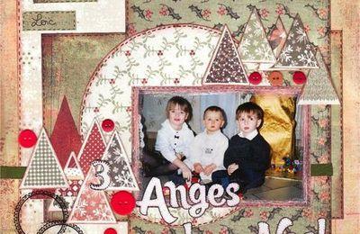 3 anges de Noël