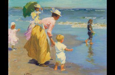 """""""A la plage"""" d'Edward Henry"""