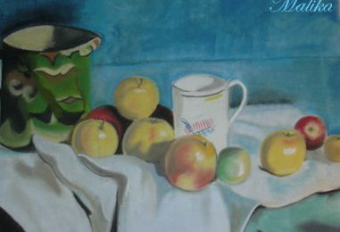 Reproduction d'une nature morte de Cezanne