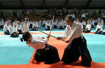 Maître Tamura à l'Aïkikaï