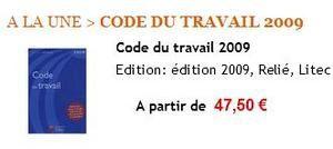 Code du Travail 2009 LITEC