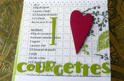 "Mini ""I love courgettes"""