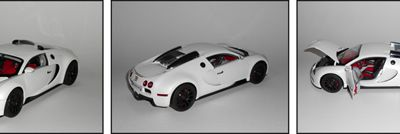 1/18 Bugatti Veyron Full White