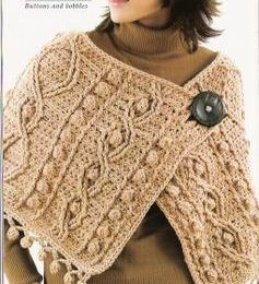 Knitting look-a-like crocheted shawl