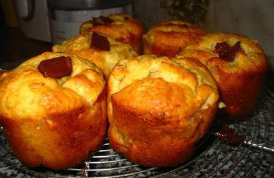 Muffins aux pommes et coeur au chocolat