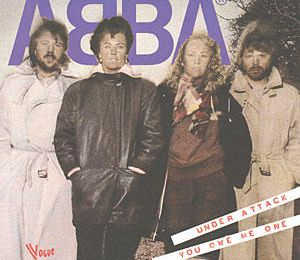 1983 : ABBA : Under Attack / You Owe Me One (2ème édition), sortie en France