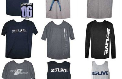 Les Goodies du 25 Live (T-Shirt George Michael, for Men, Ladies, Children, etc.)