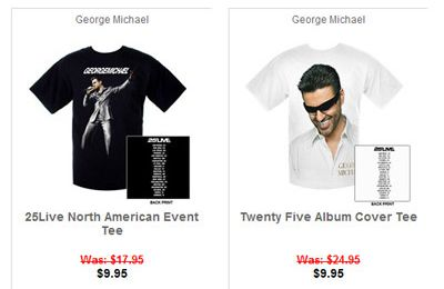 Livenation propose des T-Shirts George Michael en promo !