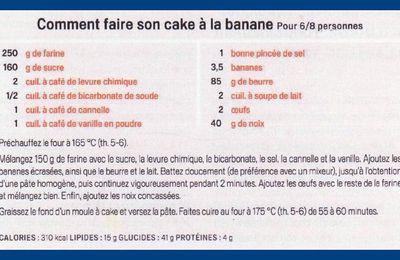 Cake à la banane.