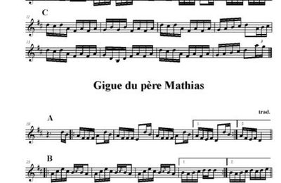 Gigue du diamant et du père mathias/rants in D