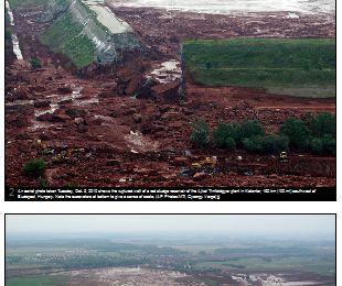 Deux visions - en grand format - des boues toxiques hongroises