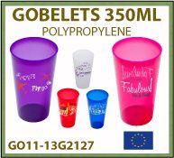 Gobelets publicitaires réutilisables, incassables et recyclables