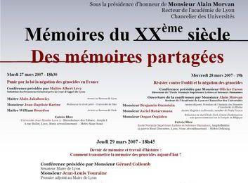Les Universités de la Mémoire 2007