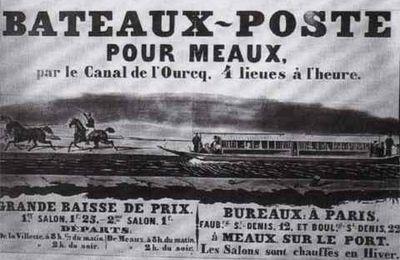 CLAYE-SOUILLY HISTOIRE : LE PASSAGE DU PREMIER BATEAU-POSTE A VAPEUR