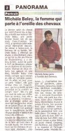 Article paru dans la gazette du Morvan le 15 avril 2008