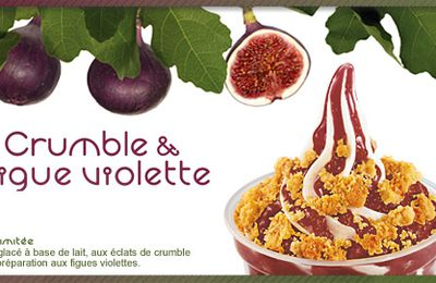 McDonald's : Sundae Crumble & Figue violette