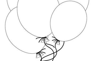 Contes pour enfants - Coloriages de Tibous - Coloriages meubles & objets : ballons