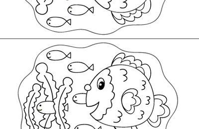 Contes pour enfants - Spécial 1er avril : bricolages - Poissons d'avril à poser : modèle 6