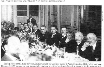 Visite d'Einstein à Paris, 1922, réception à la Maison des X