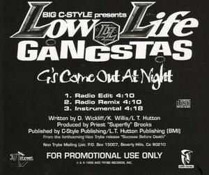 BIG C-STYLE Presents LOW LIFE GANGSTAS - G's Come Out At Night [Maxi-Single]