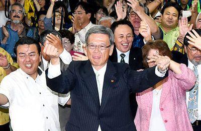 A Okinawa, le candidat soutenu par le Parti communiste japonais, opposé aux bases américaines, est élu gouverneur !