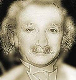 Petit effet d'optique avec Albert Einstein !!!